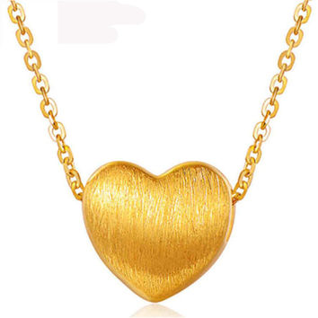 Sterling Silver and Gold Heart-Shaped Necklace