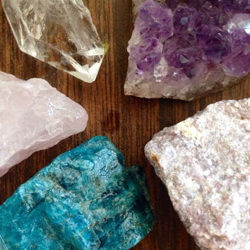 Crystal Set Crystal Collection Raw Crystal Healing Crystals and Stones Rough Stones Meditation Crystals Bohemian Decor Reiki Chakra Healing
