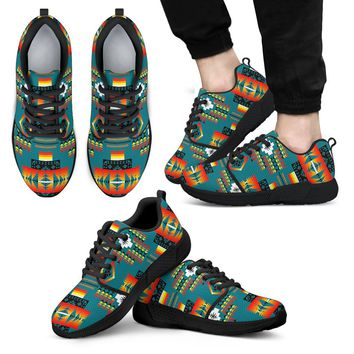 Seven Tribes Teal Sopo MEN'S Athletic Sneakers Tennis Shoes