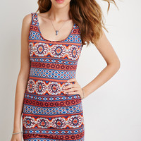 Southwestern Print Bodycon Dress