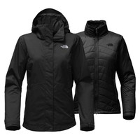The North Face Mossbud Swirl Triclimate Jacket for Women in TNF Black NF00CTM6-JK3