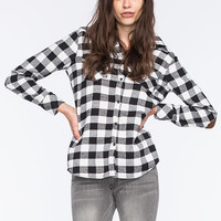 Ci Sono Womens Flannel Shirt Black/White  In Sizes