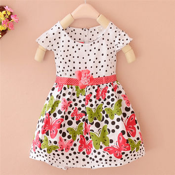 Chic Baby Toddler Girl Clothes Flower Princess Wedding Party Pageant Fancy Dress