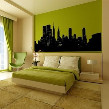 Wall Decal New York City NYC Skyline Cityscape Travel Vacation Destination The Big Apple