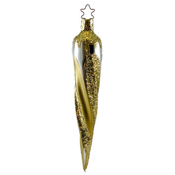 Old World Christmas Glimmer Icicle Glass Ornament