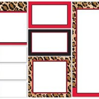Leopard + Red Sticky Note Set