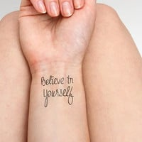 Believe in Yourself - Temporary Tattoos (Set of 2)