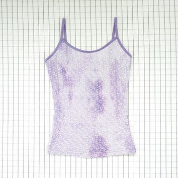 90's Tank Top, Textured Cami Top, Lilac Top, Purple Lolita Top, Pastel Goth, Soft Grunge, Cyber Angel, Bae Top, Tumblr, S