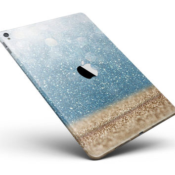 """Unfocused Radient Beach Scene Full Body Skin for the iPad Pro (12.9"""" or 9.7"""" available)"""