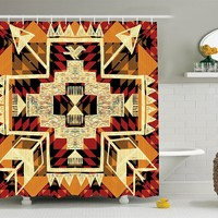 Native American Southwestern Shower Curtain
