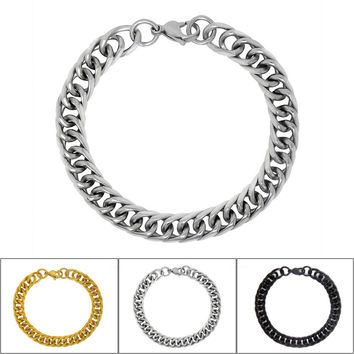 Shiny Hot Sale Gift Awesome Great Deal New Arrival Simple Design Stylish Stainless Steel Men Titanium Accessory Bracelet [6526707971]