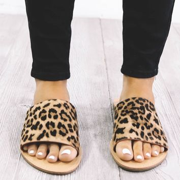 Addicted To Me Leopard Slides
