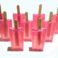 Popsicle Soap  (Juicy Watermelon) Party Favors, Wedding Favors, Bridal Shower Favors, Baby Shower Favors.