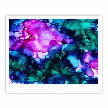 "Claire Day ""Nebula"" Teal Multicolor Abstract Painting Fine Art Gallery Print"