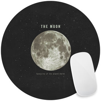 The Earth's Moon Mouse Pad Decal