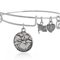 Alex and Ani  style grand monther pendant charm bracelet, a perfect gift !
