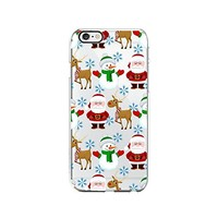 Cute Santa Claus, Reindeer And Snowman Merry Christmas Transparent Silicone Plastic Phone Case for iphone 7 _ LOKIshop (iphone 7)