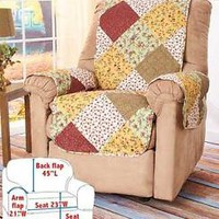 Quilted Chair Recliner Furniture Cover Protector Protect From Kid's Pets Spills