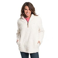 Sherpa Pullover with Pockets in Marshmallow by The Southern Shirt Co. - FINAL SALE