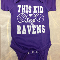 This Kid Loves the Ravens Baby clothing Baltimore baby Style