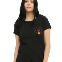 Johnny Cash Ring Of Fire Girls T-Shirt
