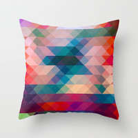 TRIANGLE Throw Pillow by Hands In The Sky