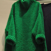Turtleneck Candy Color Long Sleeve Sweater