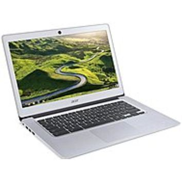 Acer CB3-431-C99D 14 Active Matrix TFT Color LCD Chromebook - Intel Celeron N3060 Dual-core (2 Core) 1.60 GHz - 4 GB LPDDR3 - 16 GB Flash Memory - Chrome OS - 1366 x 768 - ComfyView - Sparkly Silver - Intel HD Graphics 400 LPDDR3 - Bluetooth - Front Came