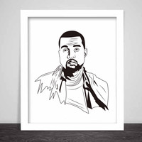 Kanye West Yeezy Art Poster (3 sizes) // swish yeezus tour allday