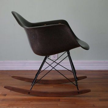 Eames for Herman Miller Rocking Shell Chair by MidwestAestheticCo
