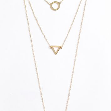 3Chained Charm Necklace