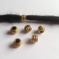 Free Shipping 30Pcs/Lot  Golden plated Style dread dreadlock beads cuff clip approx 4.5mm hole