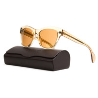 Oliver Peoples OV5233S Sofee Sunglasses 1439/7T Peach Crystal, Peach Gold Mirror