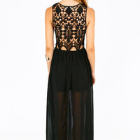 Missa Crochet Maxi Dress $47