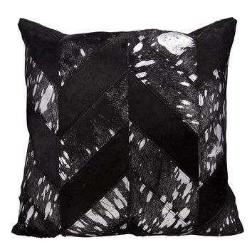 kathy ireland Metallic Chevron Black/Silver Throw Pillow (20-inch x 20-inch) by Nourison | Overstock.com Shopping - The Best Deals on Throw Pillows