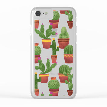 Terra Cotta Cacti Clear iPhone Case by Noonday Design