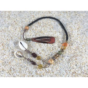 Pirate Hair Beads with Cowrie Shell Tassel (PHB017)