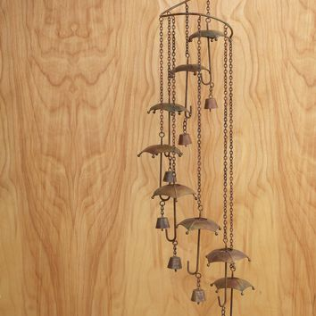 Umbrellas Spiral Mobile Wind Chime
