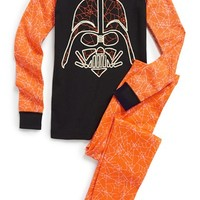 Boy's Hanna Andersson 'Star Wars - Vader Web' Glow-in-the-Dark Organic Cotton Fitted Two-Piece Pajamas,