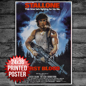 Stallone First Blood Movie Poster