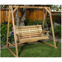 All Things Cedar A-Frame Red Cedar Porch Swing Stand