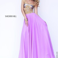 Sherri Hill 32134 Two Piece Chiffon Prom Dress