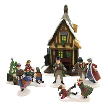 Department 56 Accessory ASHLEY POND SKATING PARTY Dickens Retired 58405