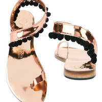 Álvaro González Angela Pom Metallic Flat Sandals - INTERMIX®