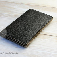 Men's leather wallet iPhone 6S wallet card holder wallet billfold wallet olive green leather wallet credit card wallet greige travel wallet