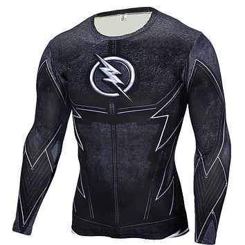 The Flash Black Panther T Shirt Men 3D Printed T-shirts Fitness Compression Shirt Crossfit Long Sleeve Slim Fit Top Tees Shirt