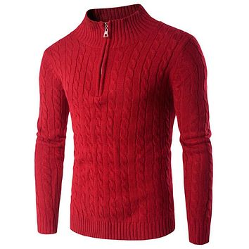 New Arrivals Men Sweater Red Sweater Men Pullover Long Sleeve Casual Men Jumper Sweater Fashion Men Clothing