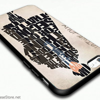 Sherlock Holmes Quotes Typography Case Cover For iPhone 6 / iPhone 6 Plus