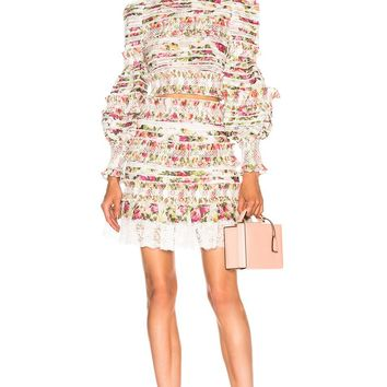 Coco Floral  Smocked Skirt And Blouse Set