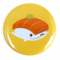 Handmade Gifts | Independent Design | Vintage Goods Deluxe Pin: Fancy Whale Sushi - New Arrivals